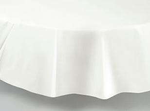 White Round Tablecloths Tablecovers Plastic Wholesale